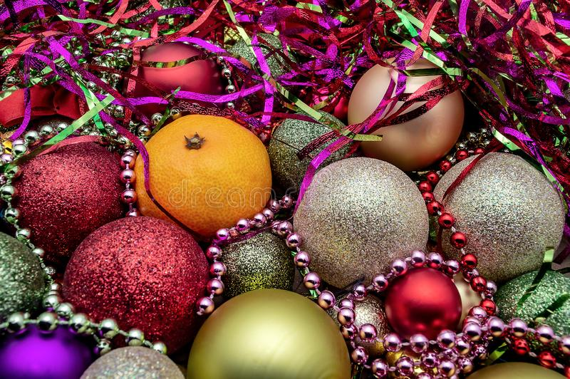 La palla di Natale orna il nuovo anno della decorazione di festa di Natale fotografie stock libere da diritti