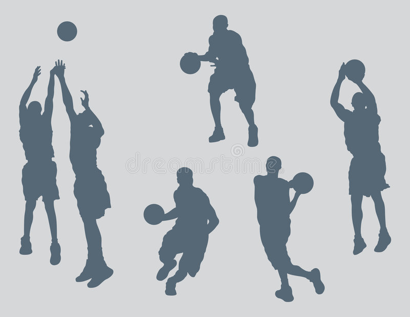 La pallacanestro calcola il vettore illustrazione di stock