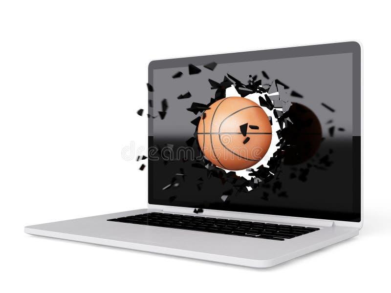 Download La Pallacanestro Distrugge Il Computer Portatile Illustrazione di Stock - Illustrazione di taccuino, schermo: 56890587