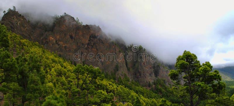 La Palma, Caldera Taburiente stock photo