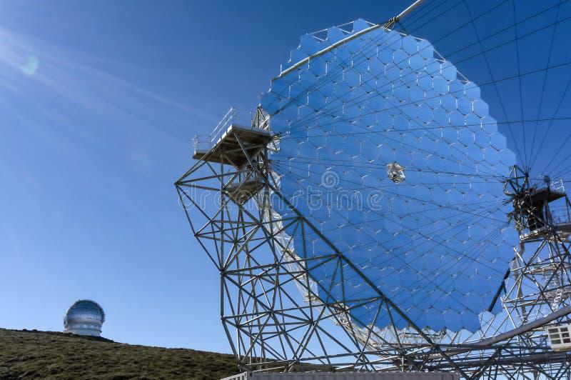La Palma del auf de la magia-Teleskop imagenes de archivo