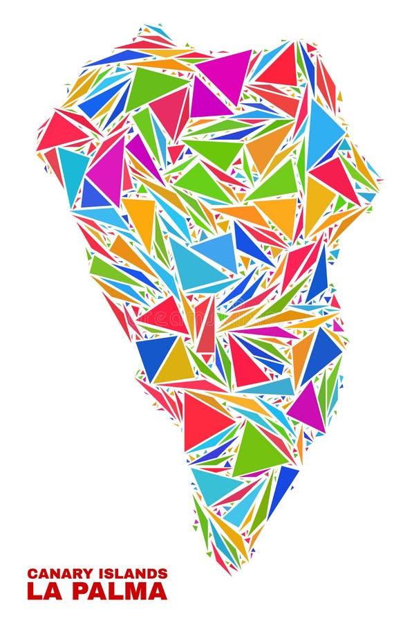 La Palma Island Map - Mosaic of Color Triangles vector illustration