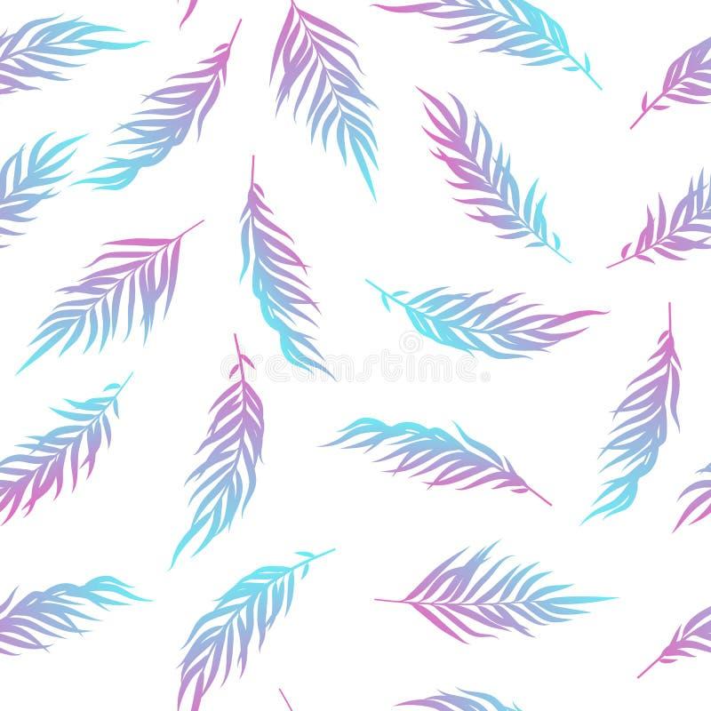 La palma lascia il modello tropicale illustrazione di stock