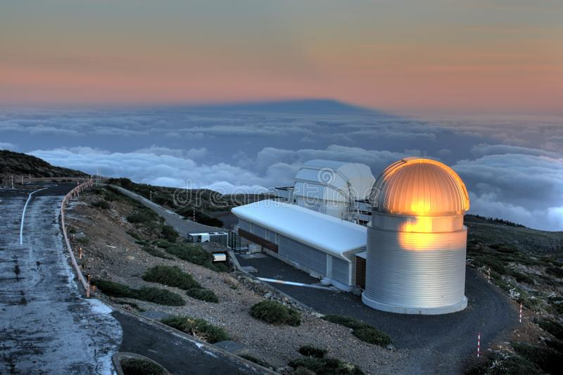 La Palma Observatory ORM royalty free stock images
