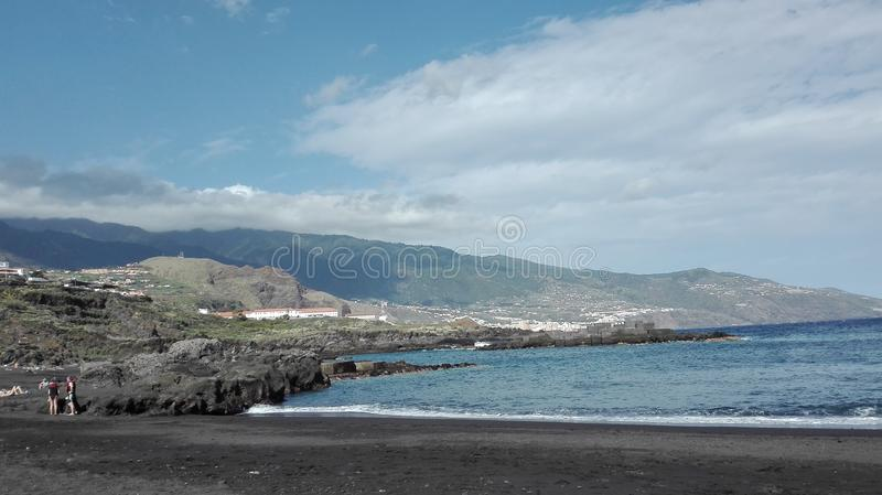 La Palma-Strandansicht lizenzfreie stockfotografie