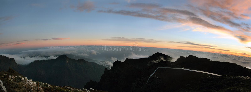 La Palma sunset royalty free stock images