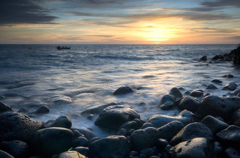 Download La Palma sunset stock photo. Image of sand, beach, reflection - 7131482