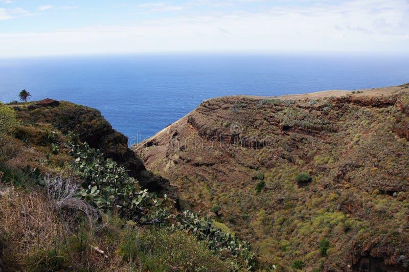 La Palma. Vallei naast het overzees royalty-vrije stock foto's