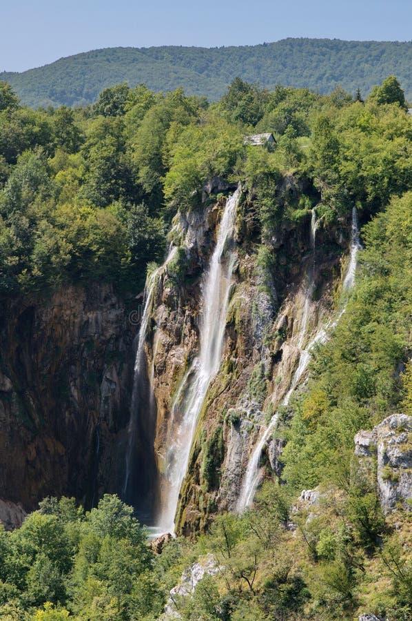 La palmada más bigest de Veliki de la cascada en los lagos Plitvice fotos de archivo libres de regalías