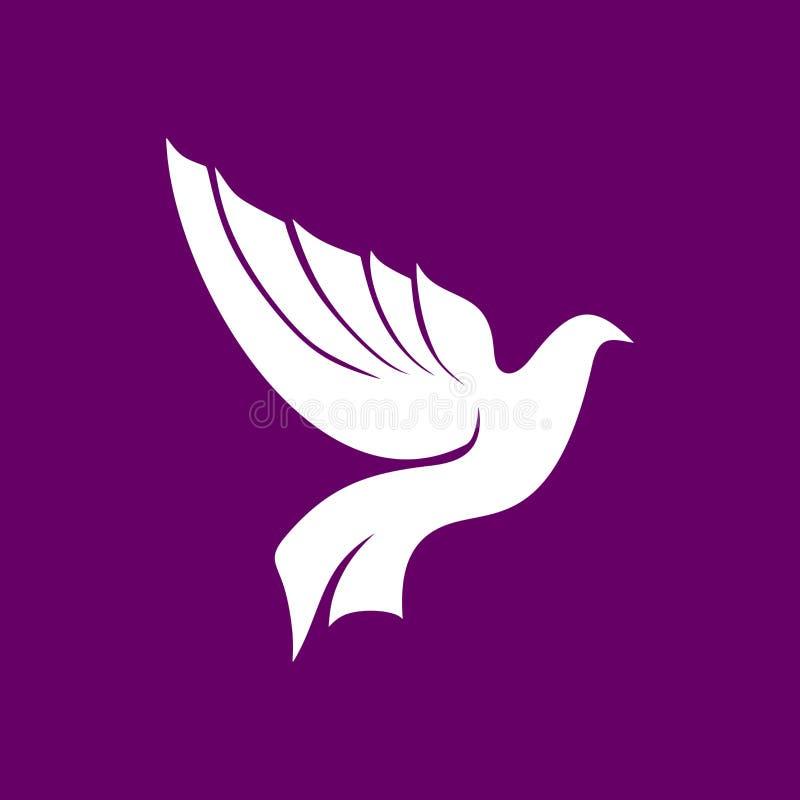 La paloma es un símbolo del Espíritu Santo ilustración del vector