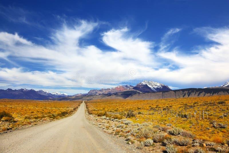 La pampa nella Patagonia fotografie stock libere da diritti