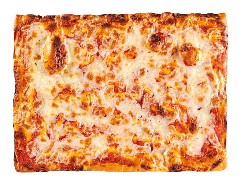La panadería clásica cocinó a Margherita Pizza rectangular imagen de archivo