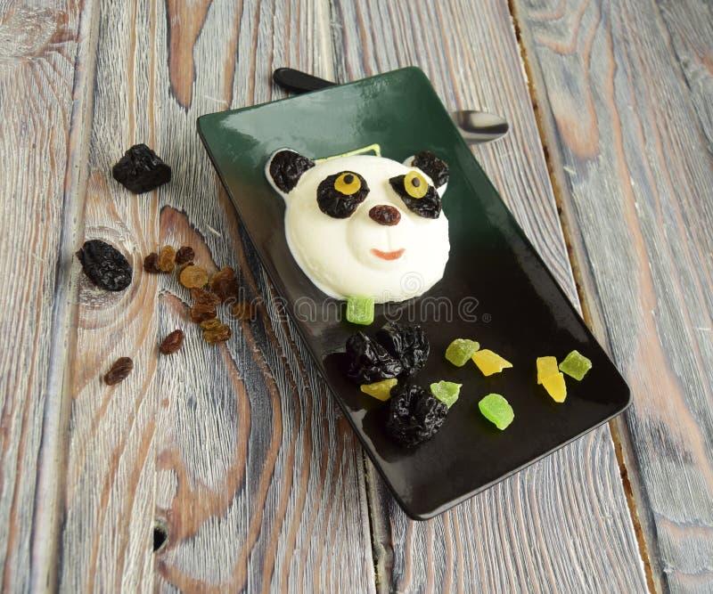 La panda hecha del helado foto de archivo