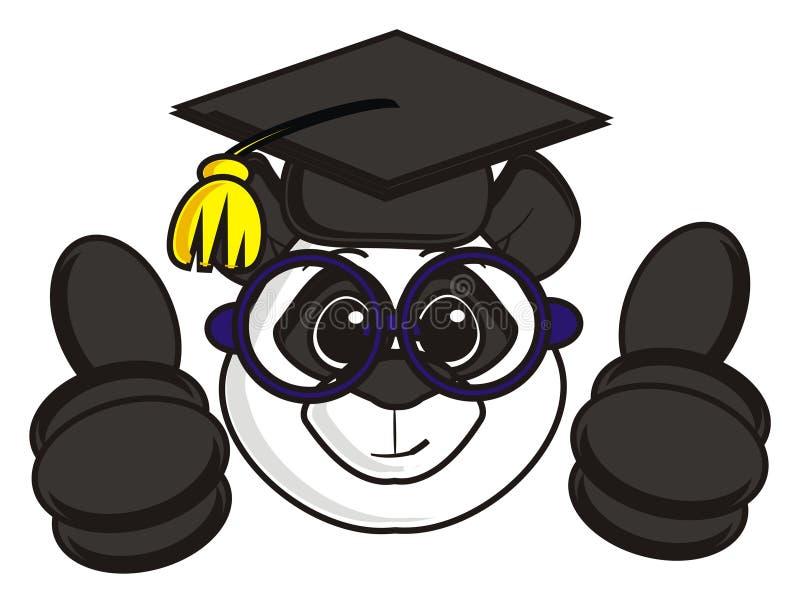 La panda muestra el gesto fresco stock de ilustración