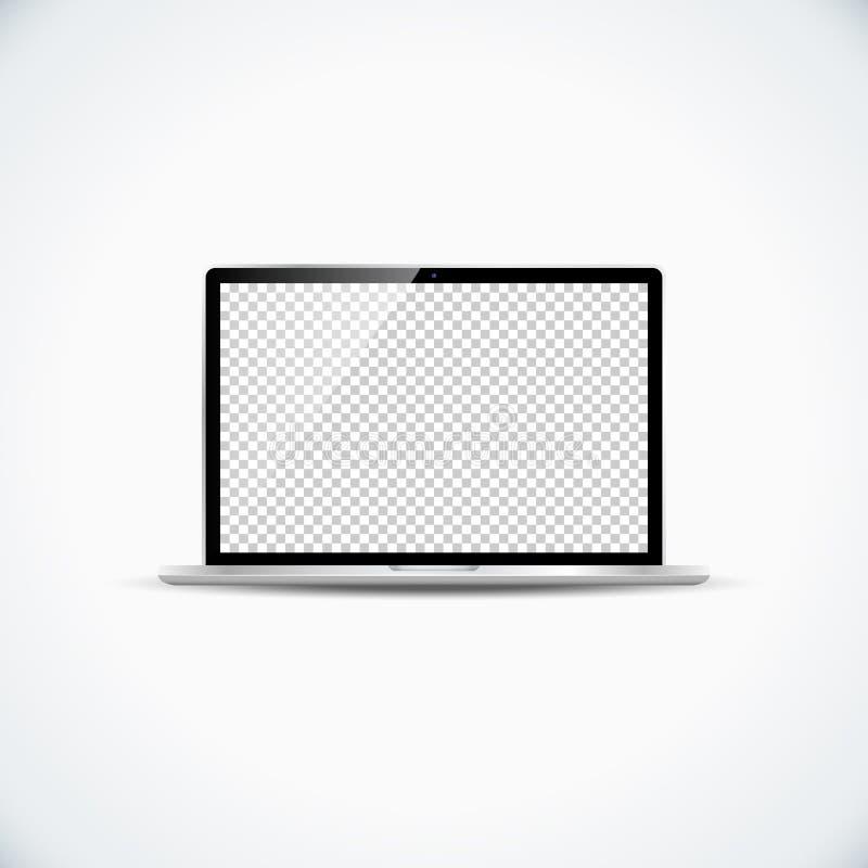 La pantalla brillante del espacio en blanco del vector con el metal plateado moderno del papel pintado transparente abrió el orde libre illustration