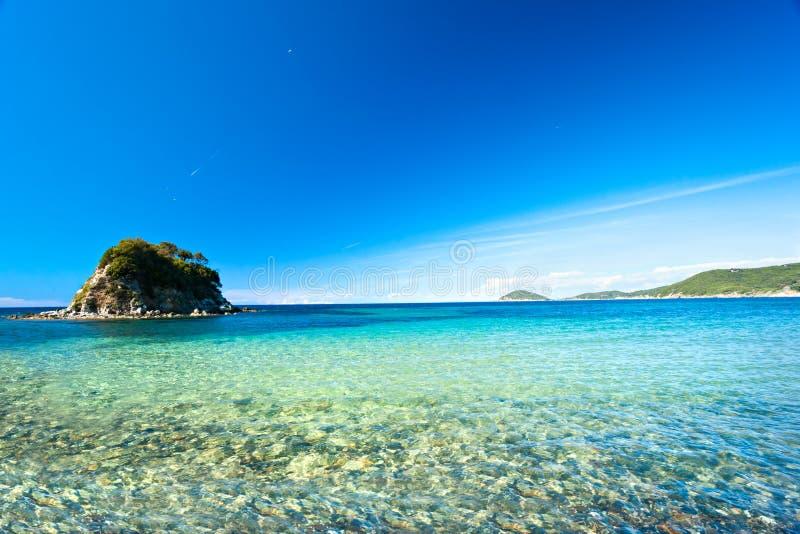 La Paolina Strand, Elba-Insel. stockfoto