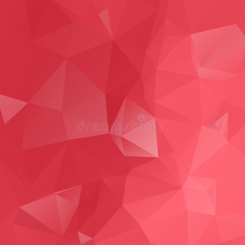 La papiroflexia polivin?lica baja triangular desgre?ada geom?trica roja dise?a el fondo del gr?fico del ejemplo de la pendiente D ilustración del vector