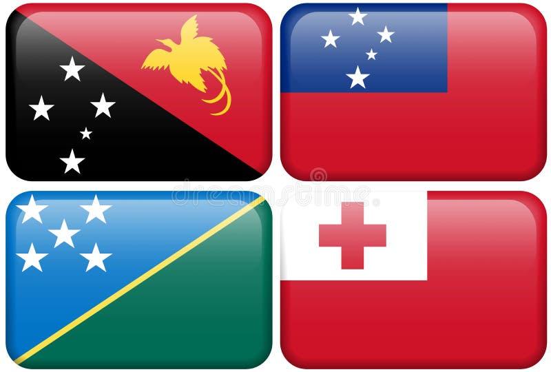 La Papouasie-Nouvelle Guinée, Samoa, îles Salomon, Tonga illustration libre de droits