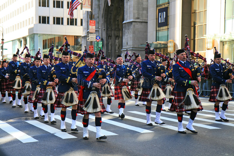 La parata di giorno del Patrick santo fotografia stock