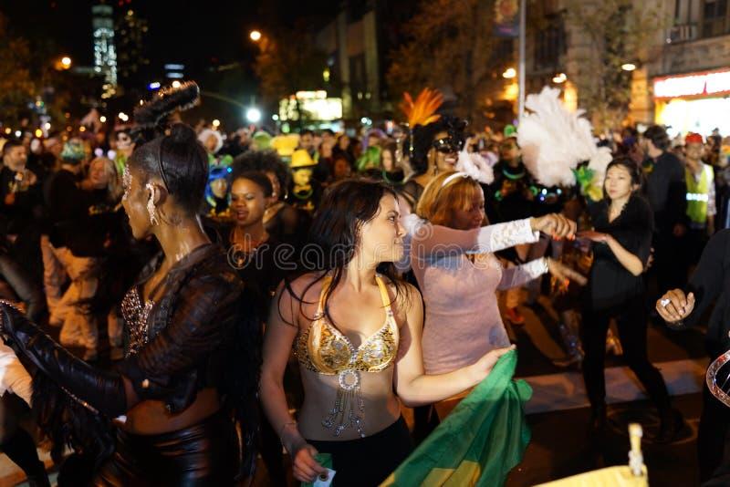 La parata 2015 di Halloween del villaggio 1 fotografie stock libere da diritti