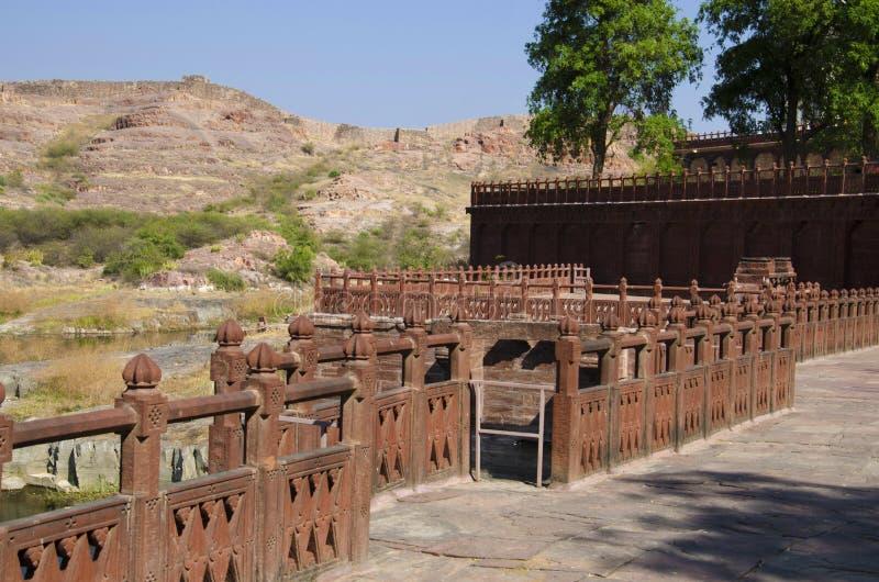 La pared compuesta del Jaswant Thada, es un cenotafio, Jodhpur, Rajasthán, la India fotografía de archivo libre de regalías