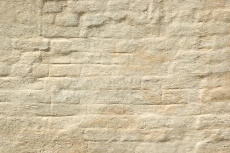 La pared de ladrillo blanqueada imagenes de archivo