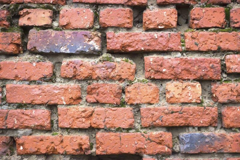 La pared de ladrillo roja vieja imagen de archivo libre de regalías