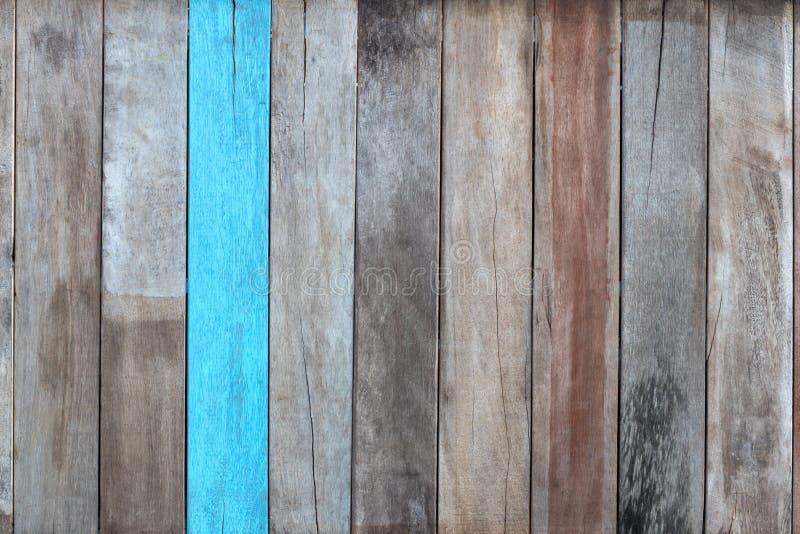 La pared de madera vieja es diverso azul fotografía de archivo libre de regalías