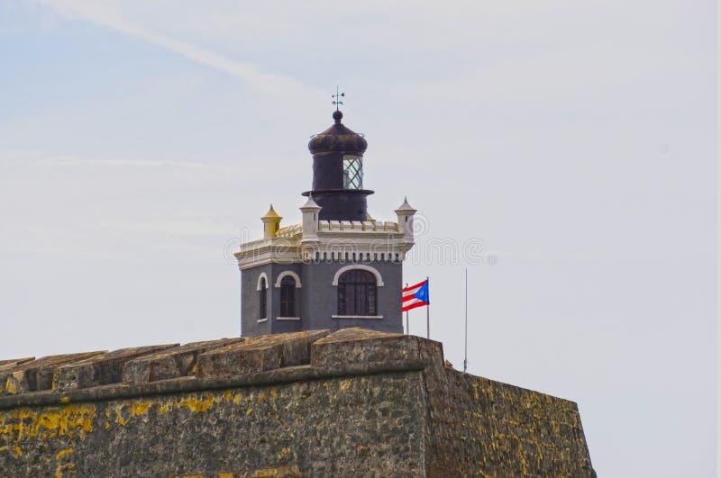 La pared del fuerte San Cristobal en San Juan, Puerto Rico fotografía de archivo