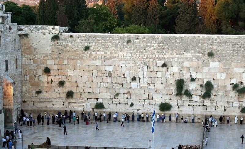 La pared occidental foto de archivo