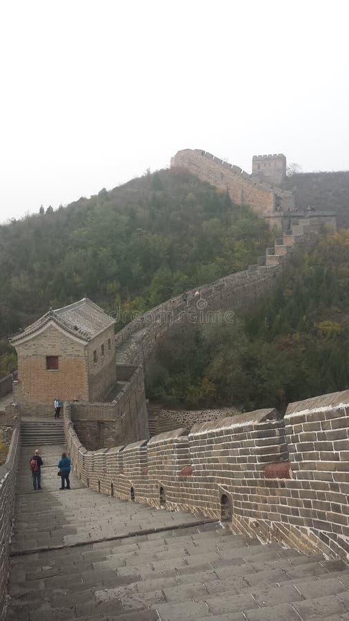 La parete cinese immagini stock