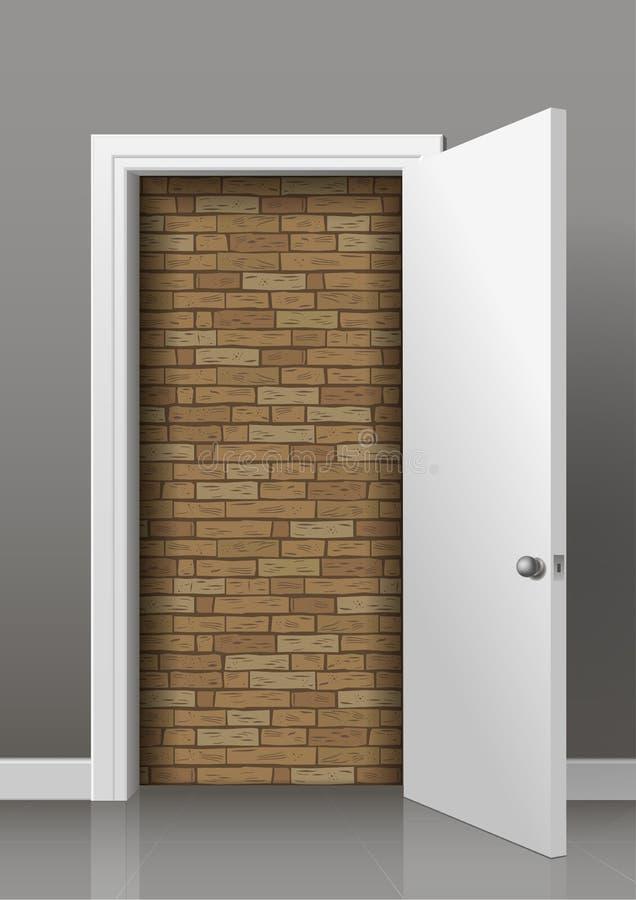 La parete dietro la porta royalty illustrazione gratis