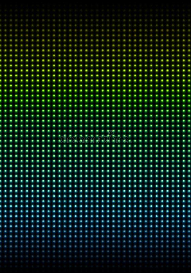 La parete illuminata con colorato fotografia stock
