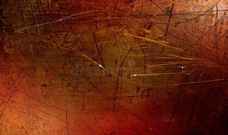La parete protetta rossa, nera e gialla ha strutturato il fondo struttura di carta del fondo di lerciume Carta da parati della pr fotografia stock libera da diritti