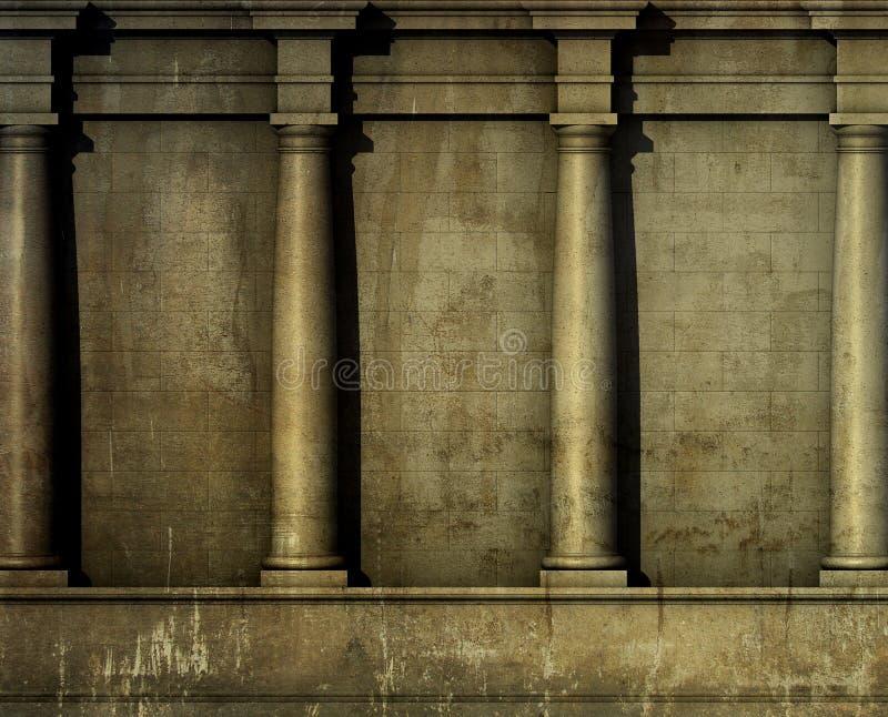 La parete romana greca di architettura classica 3d rende for Programmi 3d architettura