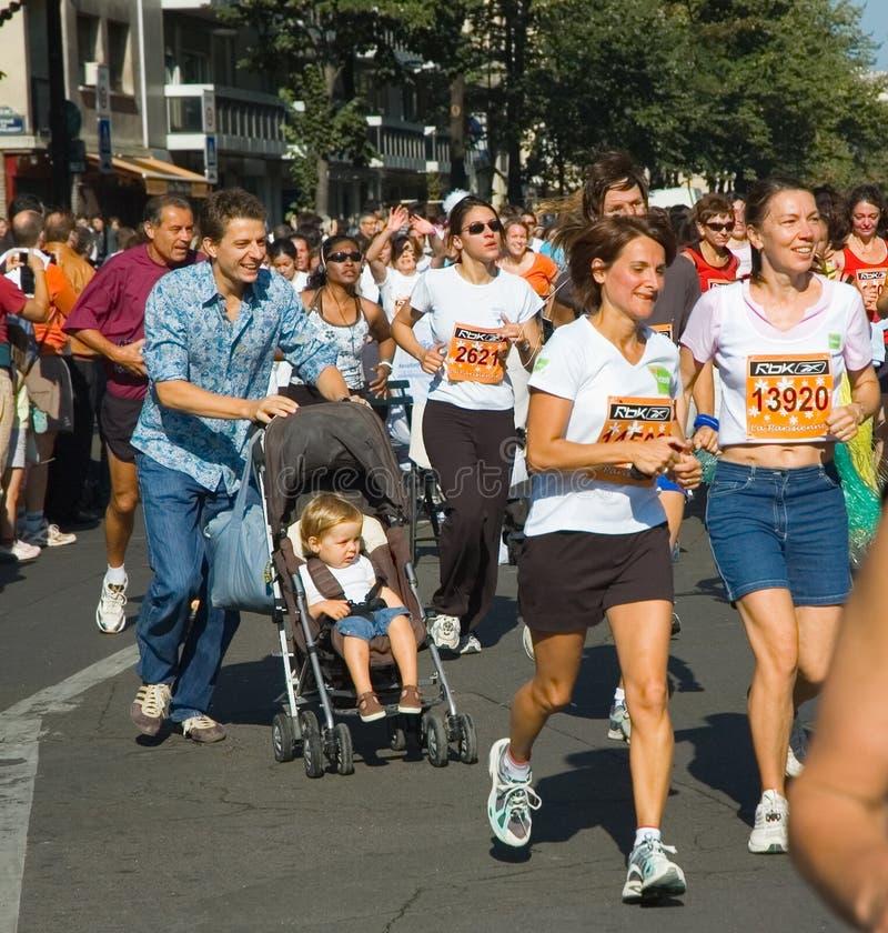 La Parisienne 2007 di maratona fotografia stock