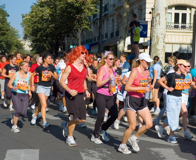 La Parisienne 2007 di maratona immagine stock libera da diritti