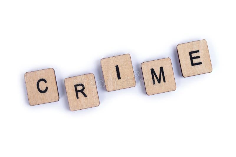 La parola CRIMINE immagine stock