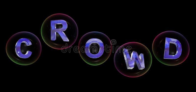 La parola della folla nella bolla royalty illustrazione gratis