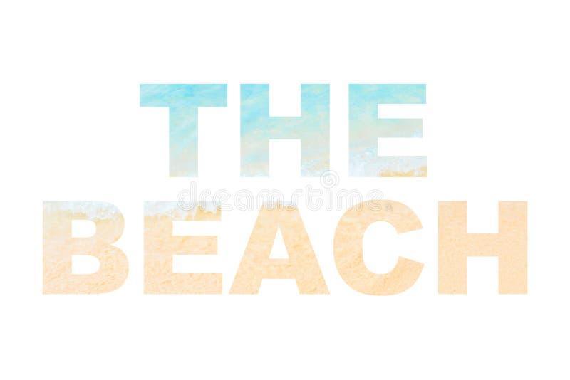 La parola della spiaggia illustrazione vettoriale
