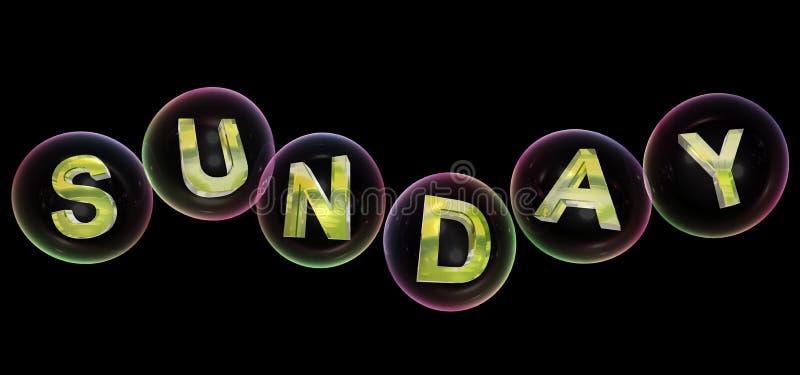 La parola di domenica nella bolla illustrazione di stock