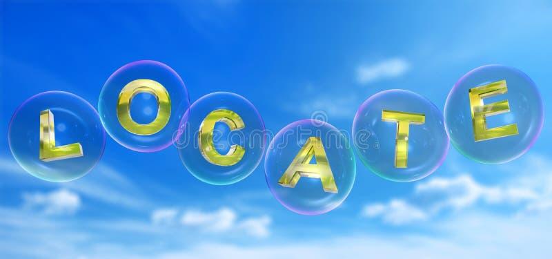 La parola di posizionamento nella bolla royalty illustrazione gratis