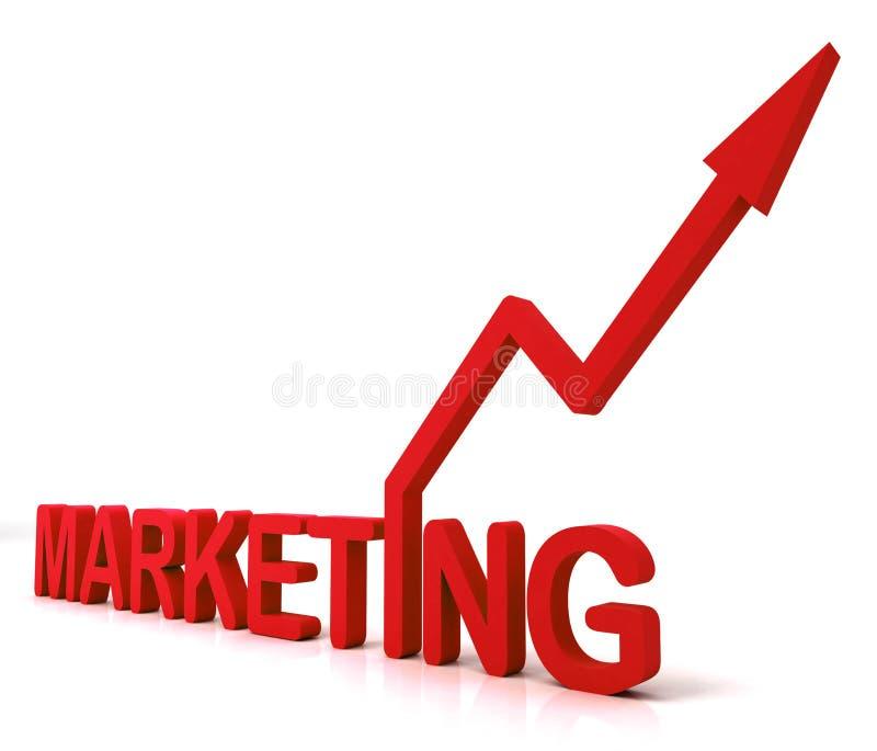 La parola rossa di vendita significa le vendite e la pubblicità di promozione illustrazione di stock