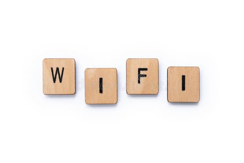 La parola WIFI immagini stock libere da diritti