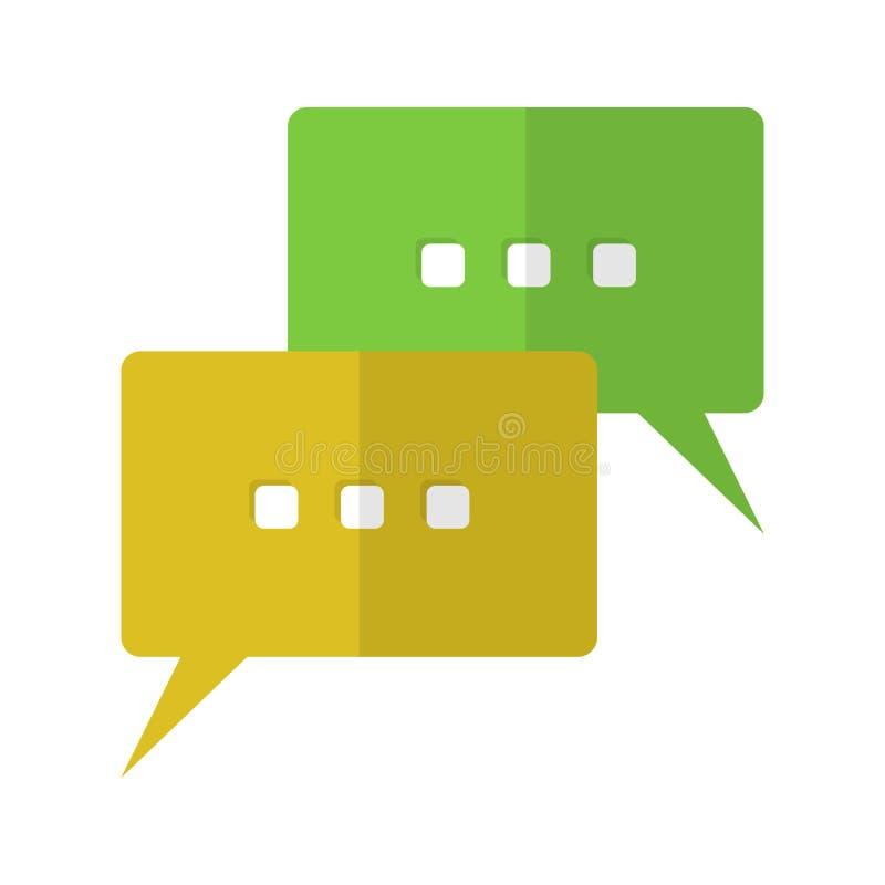 La parole bouillonne icône plate illustration de vecteur