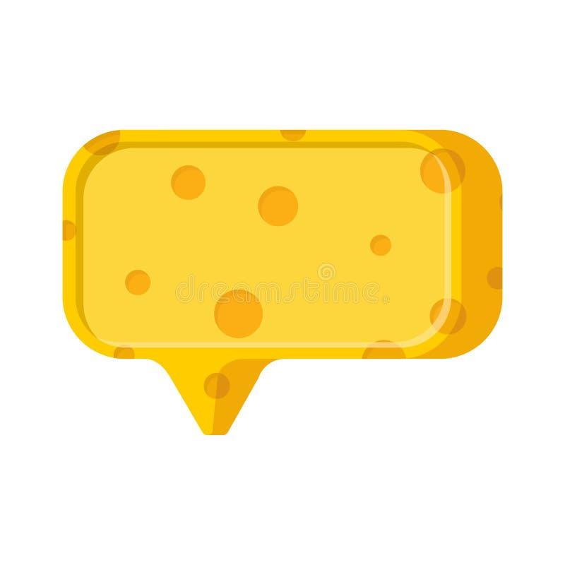La parole de bulle de fromage Place pour le texte Vecteur illustration libre de droits