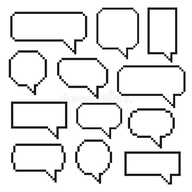 La parole de bulle de pixel illustration de vecteur