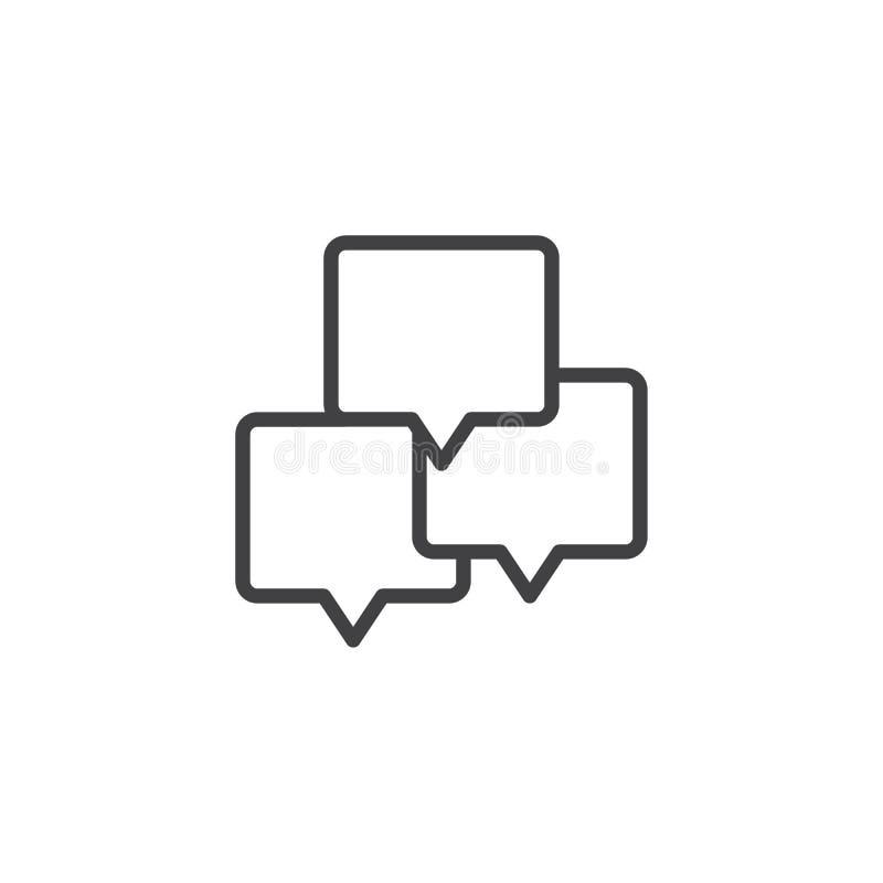 La parole de causerie bouillonne icône d'ensemble illustration de vecteur