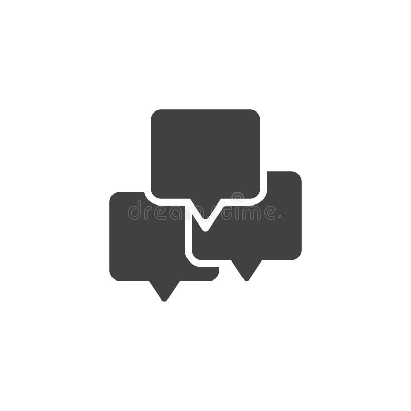 La parole de causerie bouillonne icône de vecteur illustration de vecteur
