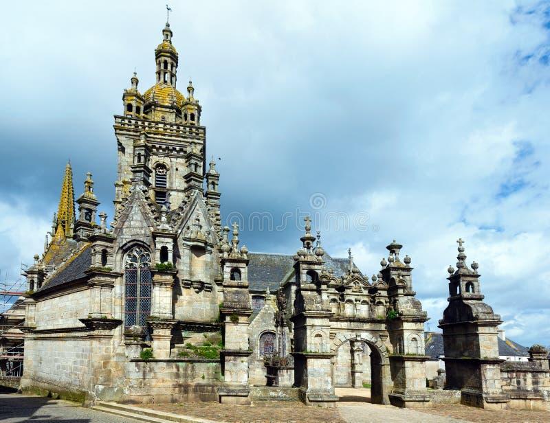 La parrocchia del san-Thegonnec, Bretagna, Francia immagini stock libere da diritti